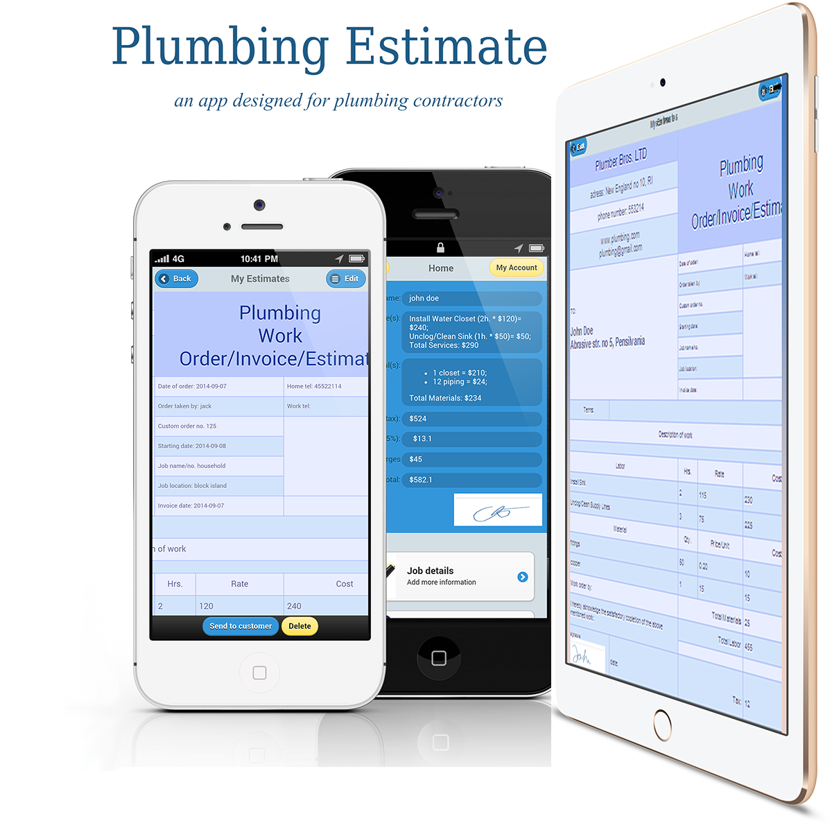 Plumbing Estimates/Invoices