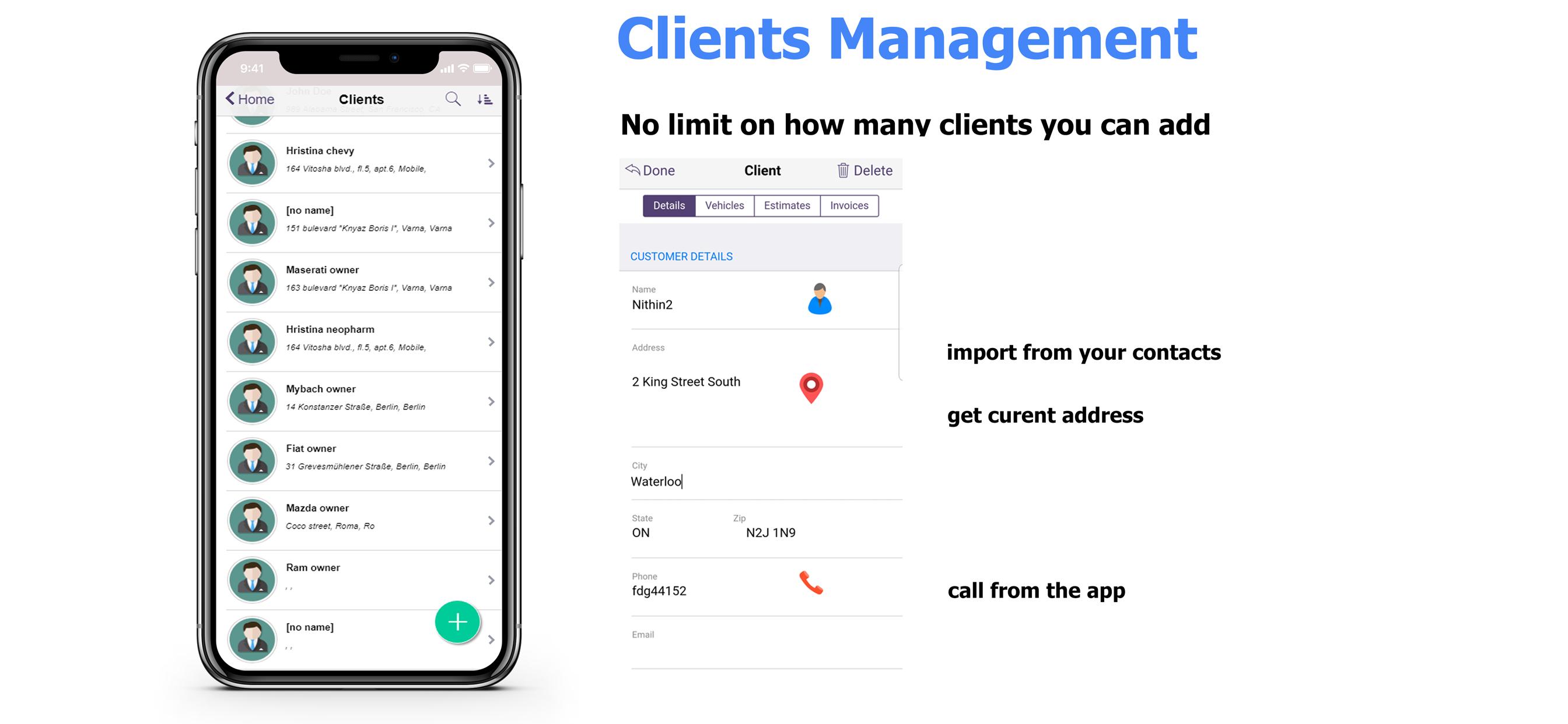 client management with ARI