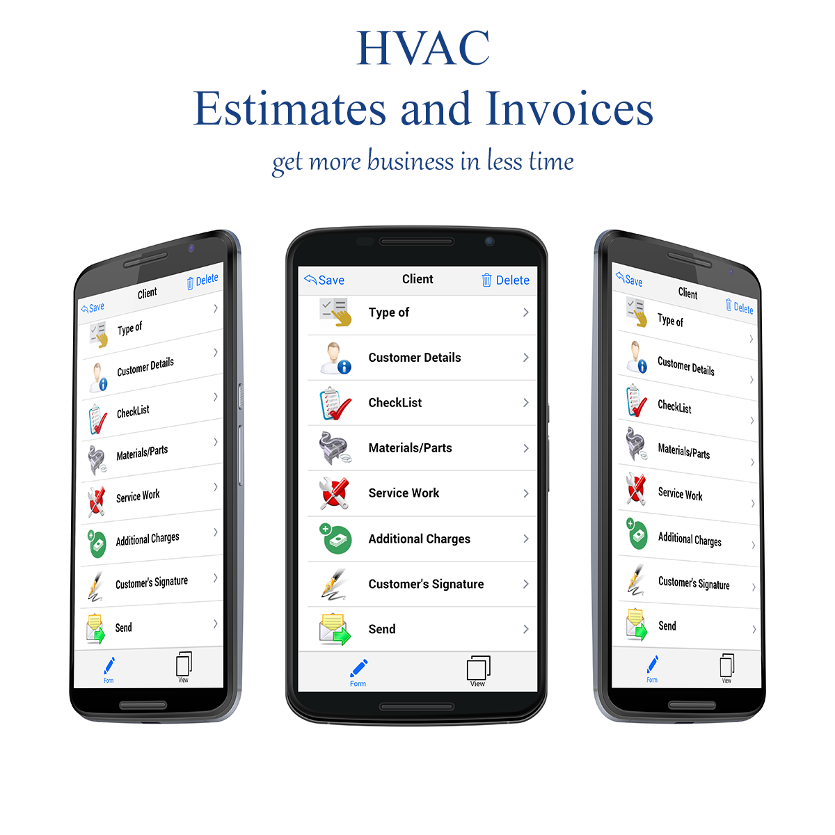 HVAC Estimates/Invoices